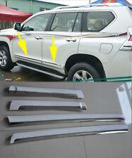 4pcs Side Door Body Molding Trim Cover White For Toyota Prado FJ150 2014-2015