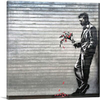ARTCANVAS Waiting in Vain at the Door of the Club Canvas Art Print by Banksy