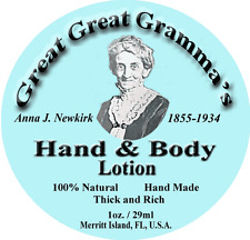 Hand & Body Lotion- Old Fashioned Thick, RIch & Vitamin full - USA Made