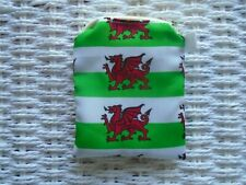 WELSH FLAG FABRIC PURSE PURSES WALLET COINS COIN MONEY WALES UNIQUE GIFT RUGBY