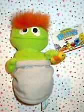 """TYCO 1997 Sesame Street OSCAR THE GROUCH 7"""" Bean Bag STUFFED ANIMAL"""