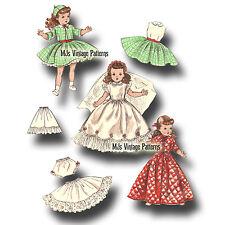 "Vtg 1950s Doll Pattern Wedding Dress 18"" 19"" Toni, Miss Revlon, Sweet Sue"