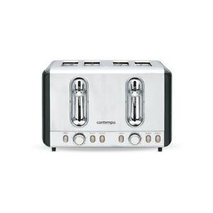 Contempo 4 Slice Metal Toaster- Black