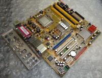 Original ASUS K8S-LA Sockel 754 Motherboard Mit Rückplatte & CPU