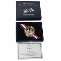 2008-S US Bald Eagle Commemorative Proof Half Dollar Box + COA