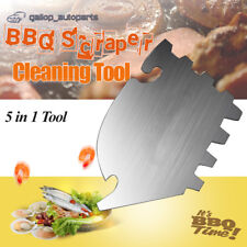 BBQ Grill Cleaner Scraper Cleaning Brush 5 in 1 multi Tool Stainless Steel