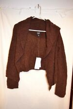 NEW Eileen FIsher Wool Silk boucle Short Enveloped Cardigan Sweater PP