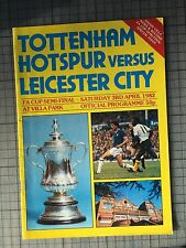 TOTTENHAM V LEICESTER CITY ~ FA CUP SEMI FINAL 1982 Programme