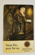 PADRE PIO ST. PIO OF PIETRELCINA 3RD CLASS RELIC BLESSED HOLY PRAYER CARD HOLY