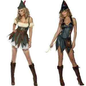 Adult Ladies Robin Hood Peter Pan Fancy Dress Costume Womens Book Day