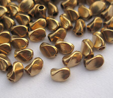4x5mm Wave Brass Beads Loose Spacer for Fashion Design s097 (30pcs)