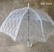 Ombrello  da sposa MATRIMONIO BIANCO con pizzo  wedding  feste.. lunghezaa  68cm