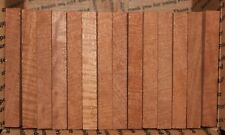 """curly mahogany pen blanks, 3/4 X 3/4 X 6"""". 12 pack with free shipping."""
