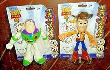 "Flextreme! Disney/Pixar Toy Story 4: WOODY & BUZZ LIGHTYEAR 7"" Bendable Figures"