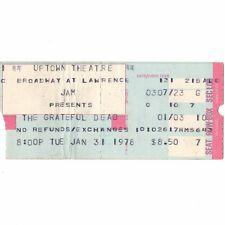 Grateful Dead Concert Ticket Stub Chicago 1/31/78 Uptown Scarlet Begonias Fire