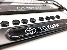 Deluxe Black License Plate Frame Toyota Celica Supra 86 Yaris 4Runner RAV4 Yaris
