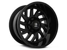 "Set of 4 20x10 RBP 65R Glock Wheels Full Gloss Black Dodge Ram 1500 5x5.5 20"""