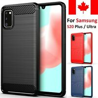 For Samsung Galaxy S20 Plus Ultra Case - Carbon Fiber Shockproof Soft Back Cover