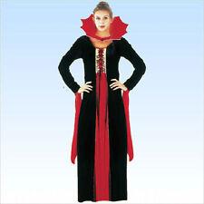 Kostüm Gothic Vampira Größe 38/42 Samt Vampirkostüm Frauen Vampiresa Fasching