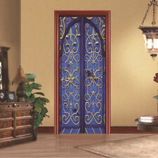 3D Retro Door Wall Stickers Vinyl Wrap Murals Wallpaper Self Adhesive Art Decals