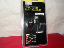 LED CAR CHARGER w/CHARGE & SYNC CABLE 12V USB for iPhone or iPod!!!