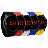 Fashion Men's Sport Watches LED Touch Digital Ultra Thin Silicone Wrist Watch
