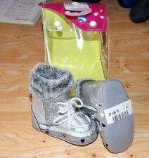 CHAUSSURE boots bottine botte argenté BEBE fille 6 / 12 MOIS POINTURE 18 NEUF