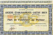 """ACTION  BISCUITS BRUN """"Les petits Brun """" Part de Fondateur 1919"""