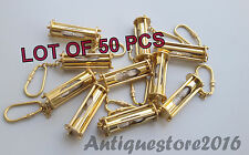 Vintage Solid Brass Designer White Sandtimer Beautiful Key Chain Lot Of 50 Pcs..