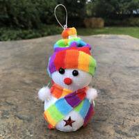 5Pcs Pendant Tree Xmas Hanging Decor Santa Doll Christmas Party Snowman Ornament