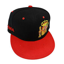 SPAIN BLACK RED COUNTRY FLAG HIP HOP HAT CAP ..  NEW