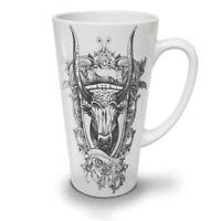 Bull Beast Shield NEW White Tea Coffee Latte Mug 12 17 oz | Wellcoda