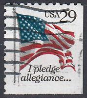 USA Briefmarke gestempelt 29c Fahne Flagge I pledge allegiance / 1702
