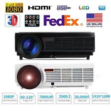 LED 96 7000 Lumens HD 1080P 3D Projector HDMI VGA USB AV Home Cinema Theater BP
