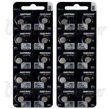 20 x Rayovac 397 batteries Silver Oxide 1.55V SR726SW SR59 SR726 Watches Swiss