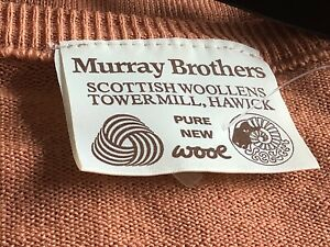 """🌺VINTAGE  Murray Brothers of Hawick JUMPER brown shades  Chest 36"""" PURE WOOL🌼"""