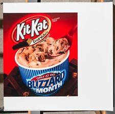 Dairy Queen Promotional Poster For Backlit Menu Sign Kit Kat Blizzard dq2