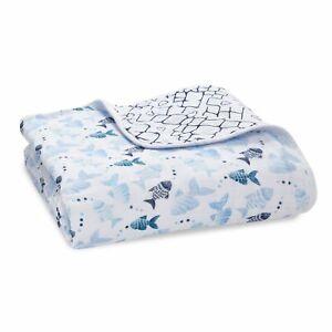 aden + anais gone fishing classic muslin dream blanket