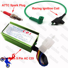 CDI Spark Plug Green Racing Ignition Coil For 90 125cc 150cc 160cc Pit Dirt Bike