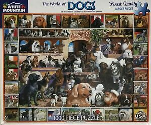 The World of Dogs White Mountain Puzzle 1000 Piece Jigsaw Made In USA #141
