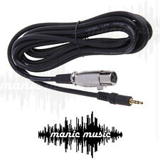 2.5M 3.5mm Stereo headphone Jack PC Camera Laptop to  XLR Female Mixer Speaker