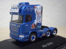 """Herpa-Scania r`13 TL solo-ZM """"MAX Steffen"""" (CH) - PC-modello 110884 - 1:87"""