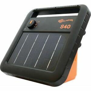 Gallagher S40 Solar Fence Energizer for Livestock, Deer, Hogs, etc.