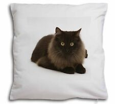 Chocolate Black Cat Soft Velvet Feel Cushion Cover With Inner Pillow, AC-123-CPW