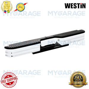Westin For Chevy/GMC/Dodge Fey Surestep Rear Bumper Chrome Plated Steel 21003