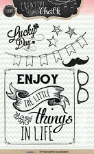 Studio Light Clear Stamps-Moustaches & sentiments Set-stampch 101-Stars-Neuf