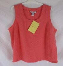 Colorayons Womens Sleeveless Shirt 24W Pink Peach Pull On Summer CB91O NWT