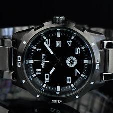 Infantry Herren analog Armbanduhr Uhr Edelstahl Datumsanzeige Sportuhr schwarz