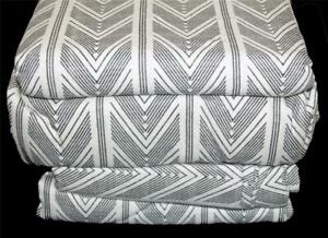 Coleman Black & White Chevron Stripes 4-Pc KING Durable Flannel Sheet Set NIP