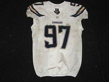 2014 Bront Bird Game Used Worn San Diego Chargers Playoffs Nike Football Jersey